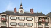 The front of the Anaheim Camelot Inn & Suites with its classic European inspired architecture