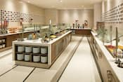 The breakfast room offers cereals, pastries, beverages and much more