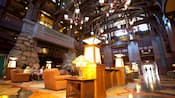 The stunning lobby and atrium at Disney's Grand Californian Hotel & Spa