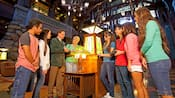 Guests enjoy the 'Art of the Craft Tour' in the lobby of Disney's Californian Hotel & Spa