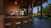 Open-air semi-circular bar at Maji Pool Bar