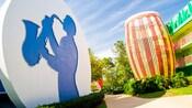 Outside area of Disney's All-Star Music Resort