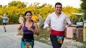 Guests running in a marathon