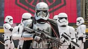 Star Wars Characters Captain Phasma and Stormtroopers of the First Order