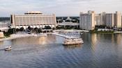 Vista aérea do Disney's Contemporary Resort e Bay Lake Tower