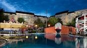 Luna Park Pool waterslide clown at Disney's BoardWalk Inn