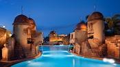 Cañones de agua de la piscina Old Port Royal Pool en Disney's Caribbean Beach Resort