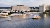 Bird's-eye view of the lake at Disney's Contemporary Resort and Bay Lake Tower