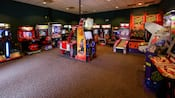 A video arcade at Disney's Coronado Springs Resort