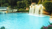 The grotto pool featuring a waterfall at Walt Disney World Dolphin Hotel
