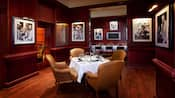 A dining area in Shula's Steak House at Walt Disney World Dolphin Hotel