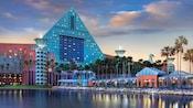 Exterior of the Walt Disney World Dolphin Hotel