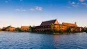 View from the lake of Disney's Polynesian Resort