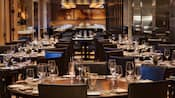 A dining area of the signature Il Mulino restaurant at Walt Disney World Swan Hotel