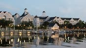 Lakeside marina and watercraft rentals at Disney's Yacht Club Resort