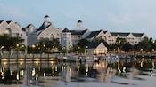 Lakeside marina and watercraft rentals at Disney's Yacht Club Resort