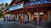Exterior of Lottawatta Lodge quick-service eatery at Disney's Blizzard Beach water park