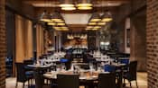 Long view of dining room at Il Mulino New York Trattoria at Walt Disney World Swan Hotel
