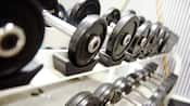 Close-up of free weights