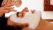 A male Guest receiving a facial in Mandara Spa at Walt Disney World Swan Hotel