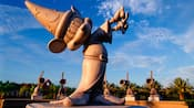 Sorcerer Mickey sculpture at Disney's Fantasia Gardens Miniature Golf Course