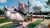 Dancing hippos at Disney's Fantasia Gardens Miniature Golf Course