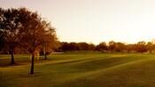 Coucher de soleil sur le terrain de golf Disney's Oak Trail