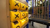 A play structure with a giant tic-tac-toe game