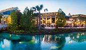 Restaurants along the water at Disney Springs