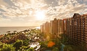 Disneys Aulani Resort in Hawaii overlooking the water