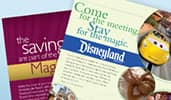 A sampling of professional looking, Disney themed meeting fliers