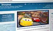 An example of a Disney themed microsite that features Cars themed content