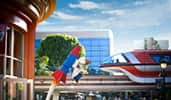 An image of a monorail as an example of stock Disney themed marketing assets