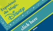 An example of a Disney themed web banner with a call to action