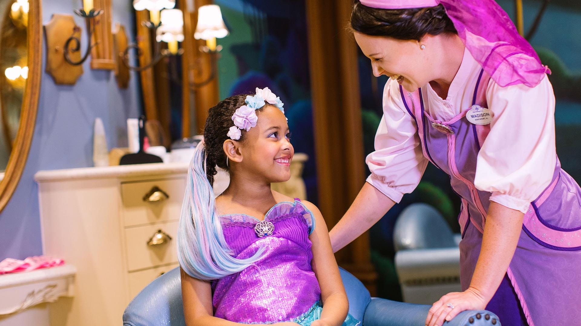 2 Disney Parks Bibbidi Bobbidi Boutique Blue /& Pink Princess Nail Polish