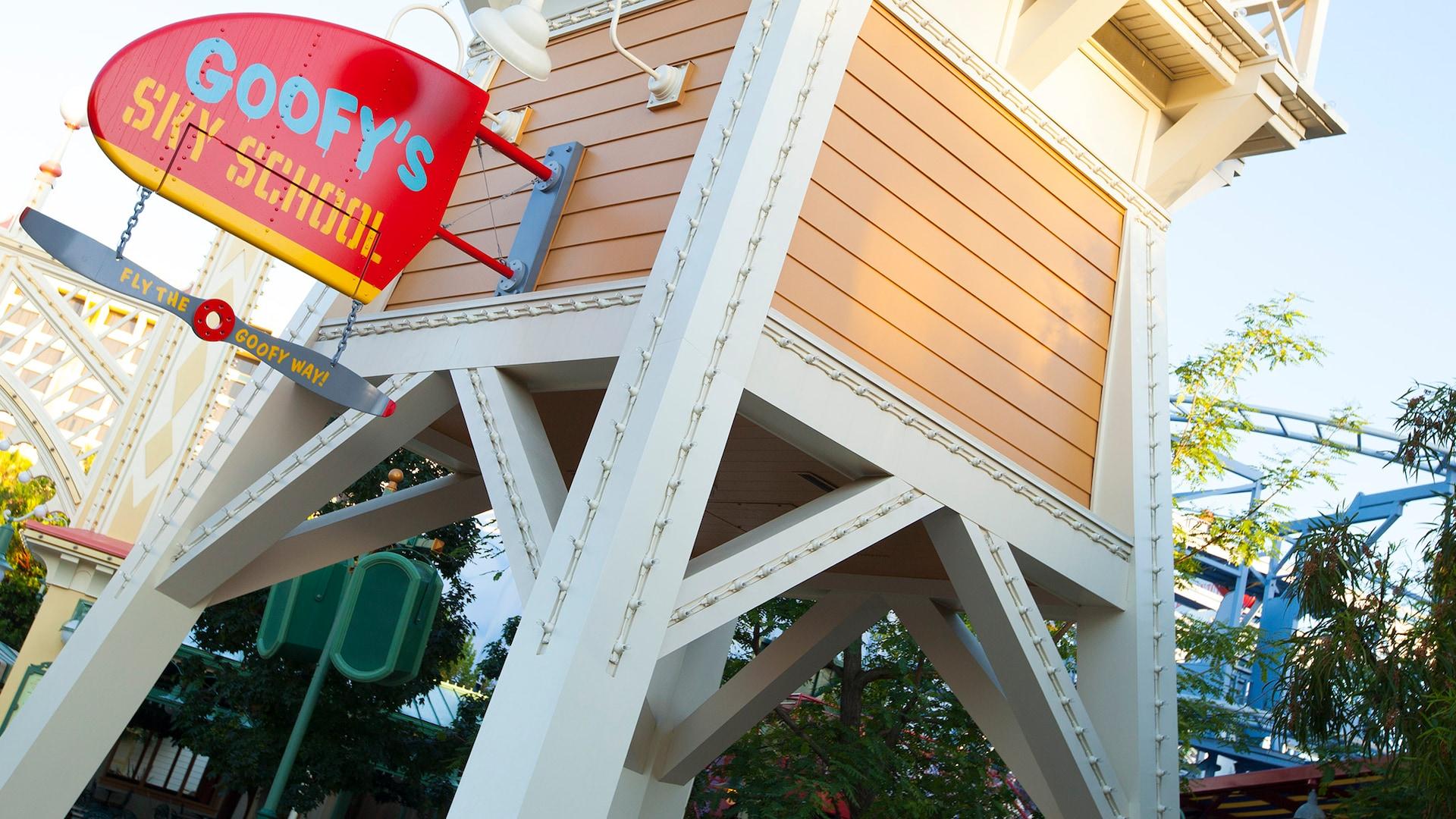 Goofy S Sky School Rides Attractions Disney California Adventure Park Disneyland Resort