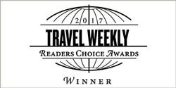 Travel Weekly's Readers Choice Awards logo, which reads: 2017 Readers Choice Awards Winners