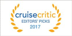 The Cruise Critic Award logo, which reads: 2017 Editors' Picks – Cruise Critic