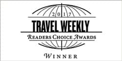 Travel Weekly's Readers Choice Awards logo, which reads: 2017 Readers Choice Awards Winners