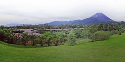 And aerial view of the Hotel Arenal Manoa in Costa Rica