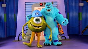 Mike e Sulley posam juntos