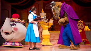 Iconic Characters perform live during Beauty and the Beast-Live on Stage at Disney's Hollywood Studios