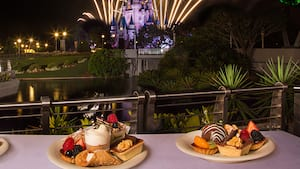 An assortment of sweet treats at the Fireworks Holiday Dessert Party at Tomorrowland Terrace