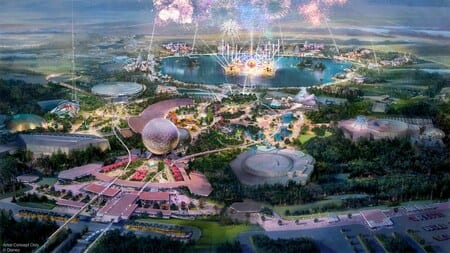 An illustration of the new Epcot at Walt Disney World Resort in Central Florida