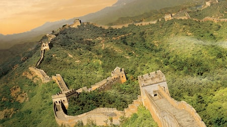 The Great Wall of China, viewed from above on Soarin'