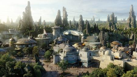 O posto avançado de Batuu, uma parte de Star Wars Galaxy's Edge