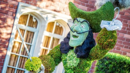 A topiary of Captain Hook