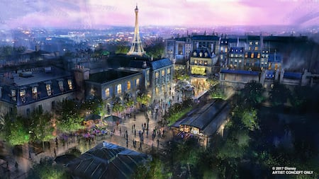 Art conceptuel de l'attraction Ratatouille