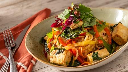 A bowl of Perkins Thai Noodles