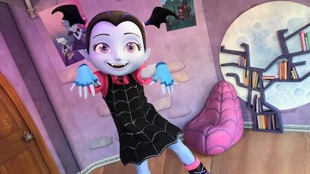 La vampira bailarina Vampirina baila en su habitación